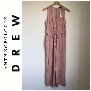 Anthropologie Drew Striped Pink Jumpsuit Small